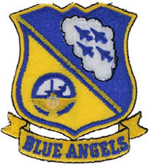 Amazon Com American Vinyl Blue Angels Shield Banner Shaped Sticker Naval Air Show Jet Pilot Fly Automotive