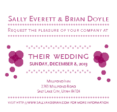 how to write wedding invitations with