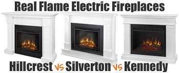 real flame white electric fireplace