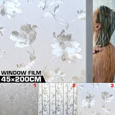 Pvc Frosted Window Film Privacy White Opal Frost Etched Glass Self Ebay