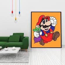 Super Mario 2 Poster Wall Art 90s Nostalgia Nintendo Art Work Etsy