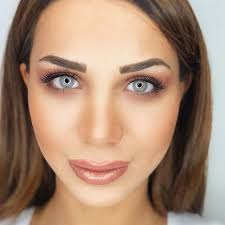 Adele Gray This model is a highly bright pigmented gray color.It's one tone  gray color without limble ring. They …   Colored contacts, Contact lenses  colored, Color