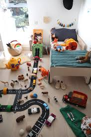 Awesome Kids Playroom Decor With Track For Cars And Toys Homemydesign