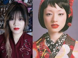 modern geisha makeup wild fake