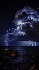 thunderstorm thunder lightning sky
