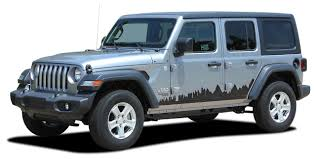 Scape Jeep Wrangler Jl Side Door Vinyl Graphics City Scene Body Decal Stripe Kit For 2007 2017 2018 2019 2020 Models Moproauto Professional Vinyl Graphics And Striping
