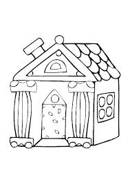 Kleurplaat Huisjes