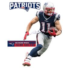Fathead Julian Edelman New England Patriots 3 Pack Life Size Removable Wall Decal