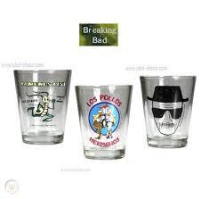 breaking bad shot glass set lot of 3