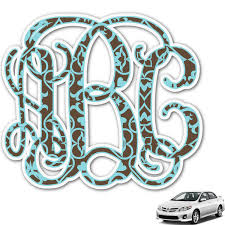Floral Monogram Car Decal Personalized Youcustomizeit