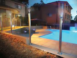 Low Profile Post System With Led Lighting From Dimension One Glass Fencing Architecture Design