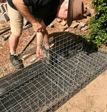 how to build a gabion wall gardendrum