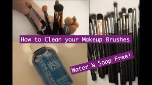 how to quick clean your makeup brushes
