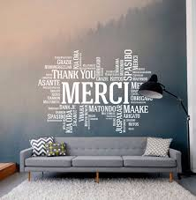 Thank You Merci Wall Decal Classroom Wall Decal Office Wall Etsy