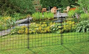 Zippity Outdoor Products Wf29001 25 Tall Black Metal Garden Fence Kit 5 Pack Amazon Ca Patio Lawn Garden