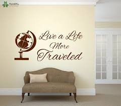Traveling Wall Decal Quotes Live More Traveled Vinyl Wall Sticker Livingroom Globe Pattern Special Home Decor Removable Diysy314 Home Decor Decoration Patterntravel Wall Decals Aliexpress