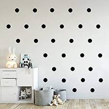 Amazon Com Black Dot Stickers Wall Decal Dots 2 Inch 200pcs Easy To Peel Easy To Stick Safe On Walls Paint Vinyl Polka Dot Decor By Bugybagy Matte Black 2 Inch Baby
