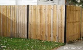 Wood Fence Steel Posts Picture Interunet