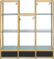 glass high low cabinet display rack