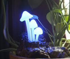 glowing led mushroom log lamp 8 steps