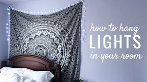 How To Hang String Lights In Your Room Easy Youtube