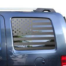 Usa Flag Decal For 2008 2012 Jeep Liberty 3rd Windows Matte Black Tactical Decals