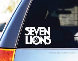 Seven Lions Logo White Vinyl Decal Sticker Edm Dance Car Laptop Edc Trance Dj Ebay