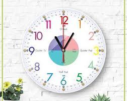 Kids Room Clock Etsy