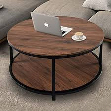 round coffee table rustic wooden