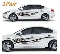 1pair Car Auto Suv Vinyl Graphic Car Body Sticker Side Decal Stripe Diy Decals Car Graphics Decals Body Stickers Car Sticker Design