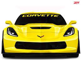 Custom Chevy Corvette Windshield Decal Ztr Graphicz