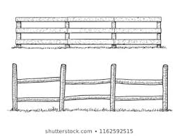 Animals On Fence Stock Vectors Images Vector Art Farm Fence Clipart Black And White