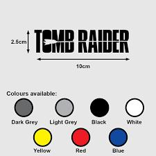Tomb Raider Logo Premium Vinyl Sticker Decal Movie Lara Croft Ps4 Xbox Design Craft Art Prints On Carousell
