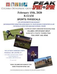 Sports Physicals: Feb. 15
