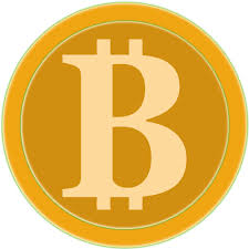 Coin of golden Bitcoin | Public domain vectors
