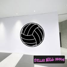 Volleyball St004 Sports Icon Wall Mural Vinyl Wall Decal Sticker Swd