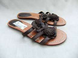 wave womens brown leather mules sandals