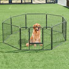 8 Metal Panel Heavy Duty Pet Dog Safety Gate Playpen Dog Playpen Dog Playpen Indoor Dog Fence