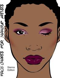 face charts for makeup artists sienna