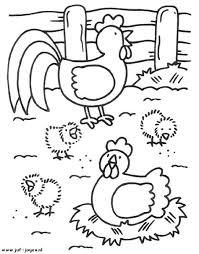 Kleurplaat Boerderij Kippen Juf Joyce Kleurplaten Kleurboek