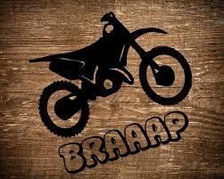Dirt Bike Motocross Braaap Car Window Decal Super Cross Decal Etsy