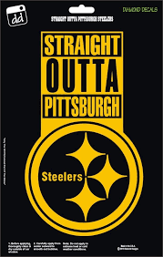 Pittsburgh Steelers Str8 Outta Nfl Football Champs Gold Vinyl Decal Car Window Diamonddecalz Gold Vinyl Decals Pittsburgh Steelers Steelers