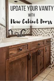 bathroom vanity with new cabinet doors