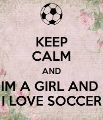 im a and i love soccer poster