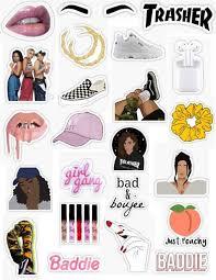 Insta Baddie Stickers Laptop Ideas Of Laptop Laptop Instagram Baddie Stickers Bad Girl Lip Gloss Vans Phone Stickers Cute Stickers Iphone Case Stickers