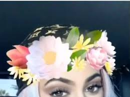 snapchat pretty filter snapchat flower crown teen vogue