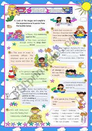 summer at the seaside set 8 idioms