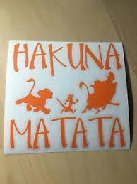 Hakuna Matata Lion King Car Window Decal Sticker Simba Ebay