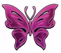 Cute Girly Purple Butterfly Car Auto Decal Window Sticker
