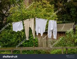 Victorian Underwear Hanging On Washing Line Stock Photo Edit Now 1486597778
